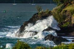 Vague de Kauai Photos stock