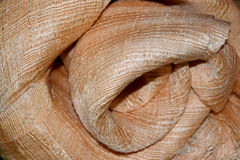 Vague de luxe de tissu de fond abstrait ou de fleur de cercle ou plis onduleux de texture rouge de tissu Image stock
