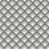 Vague de mer ou modèle sans couture d'échelles de poissons Ornement géométrique asiatique traditionnel Vecteur illustration de vecteur