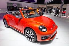 Vague de Volkswagen Beetle Cabrio Photos libres de droits