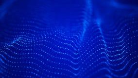 Vague des particules Fond abstrait avec une vague futuriste Grande visualisation de donn?es rendu 3d illustration de vecteur