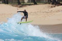 vague déferlante de makaha Photographie stock