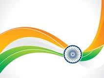 Vague indienne cr?ative artistique abstraite de drapeau illustration stock