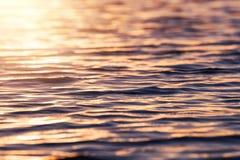 Vague molle de mer de foyer, eau de surface, courbe de l'eau, fond de l'eau Images libres de droits