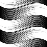 Vague noire et blanche des lignes illustration stock