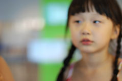 Vague outline of beautiful girl. Vague outline of beautiful little Asia girl Stock Photo