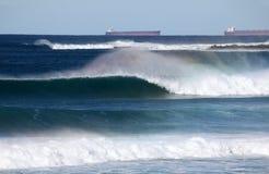 Vague puissante - Dudley Beach Newcastle Australia Photo stock