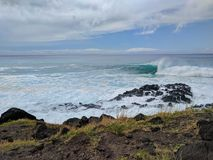 Vague se brisante Oahu photos libres de droits