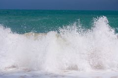 Vague sur la plage Images stock