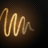 Vagues abstraites au néon d'effet de la lumière illustration stock