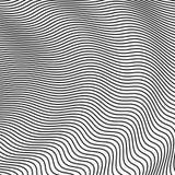 Vagues abstraites d'image tramée Fond de vecteur pour la conception Image stock