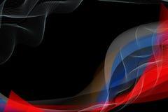 Vagues abstraites multicolores sur un fond noir illustration libre de droits