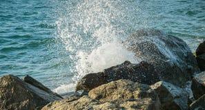 Vagues au bord de la mer photographie stock