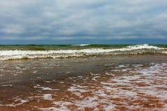 Vagues baltiques. Image libre de droits