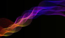 Vagues colorées abstraites fond, conception de papier peint image libre de droits