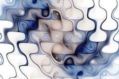 Vagues colorées abstraites sur le fond blanc Photographie stock libre de droits