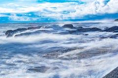 Vagues d'une tempête Image libre de droits