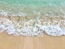Vagues dans le sable dans le cana de punta Photo libre de droits