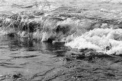 Vagues de baie de Widemouth Photos stock
