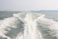 Vagues de bateau Image stock