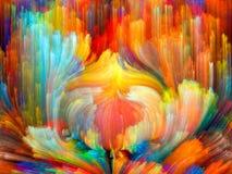 Vagues de couleur illustration de vecteur