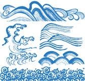 Vagues de Japonais Image libre de droits