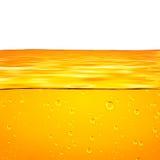 Vagues de jaune orange et fond blanc pour le texte illustration libre de droits
