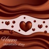 Vagues de jour du monde de chocolat de chocolat Photo stock