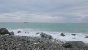 Vagues de la Mer Noire 011 banque de vidéos