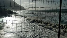Vagues de la Sicile Images libres de droits