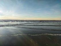 Vagues de Long Beach WA photo libre de droits