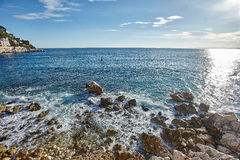 Vagues de mer de Mediterranian Photo stock