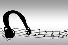 Vagues de musique Photos libres de droits