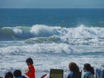 Vagues de plage Photographie stock