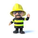 vagues du pompier 3d bonjour Photographie stock libre de droits