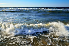 Vagues du ressac de mer Image stock