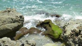 Vagues et roches Image libre de droits
