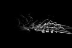 Vagues grises de fumée Photo libre de droits