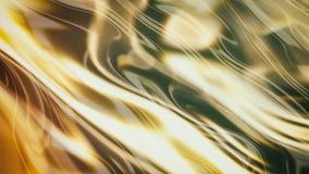 Vagues lisses 3d d'or Images libres de droits