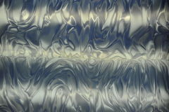 Vagues métalliques bleues Photo stock