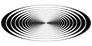 Vagues ovales de résonance de cercle concentrique illustration stock