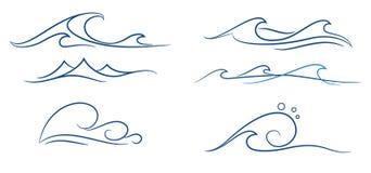 Vagues simples réglées Image stock