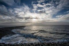 Vagues sur la Mer du Nord image libre de droits
