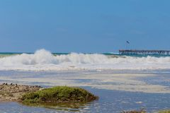 Vagues Ventura California Images stock