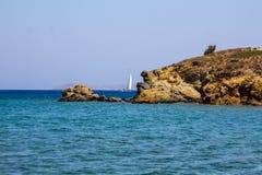 Vai海滩在克利特海岛上的  免版税图库摄影