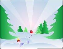 Vai aqui Santa ilustração stock