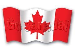 Vai a bandeira de Canadá Fotografia de Stock Royalty Free