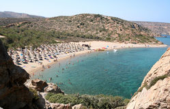 Vai beach, Crete Royalty Free Stock Photos