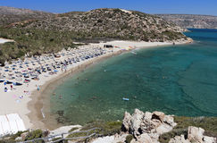Vai beach at Crete island in Greece Royalty Free Stock Photography