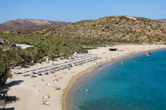The Vai Beach, Crete Royalty Free Stock Photography